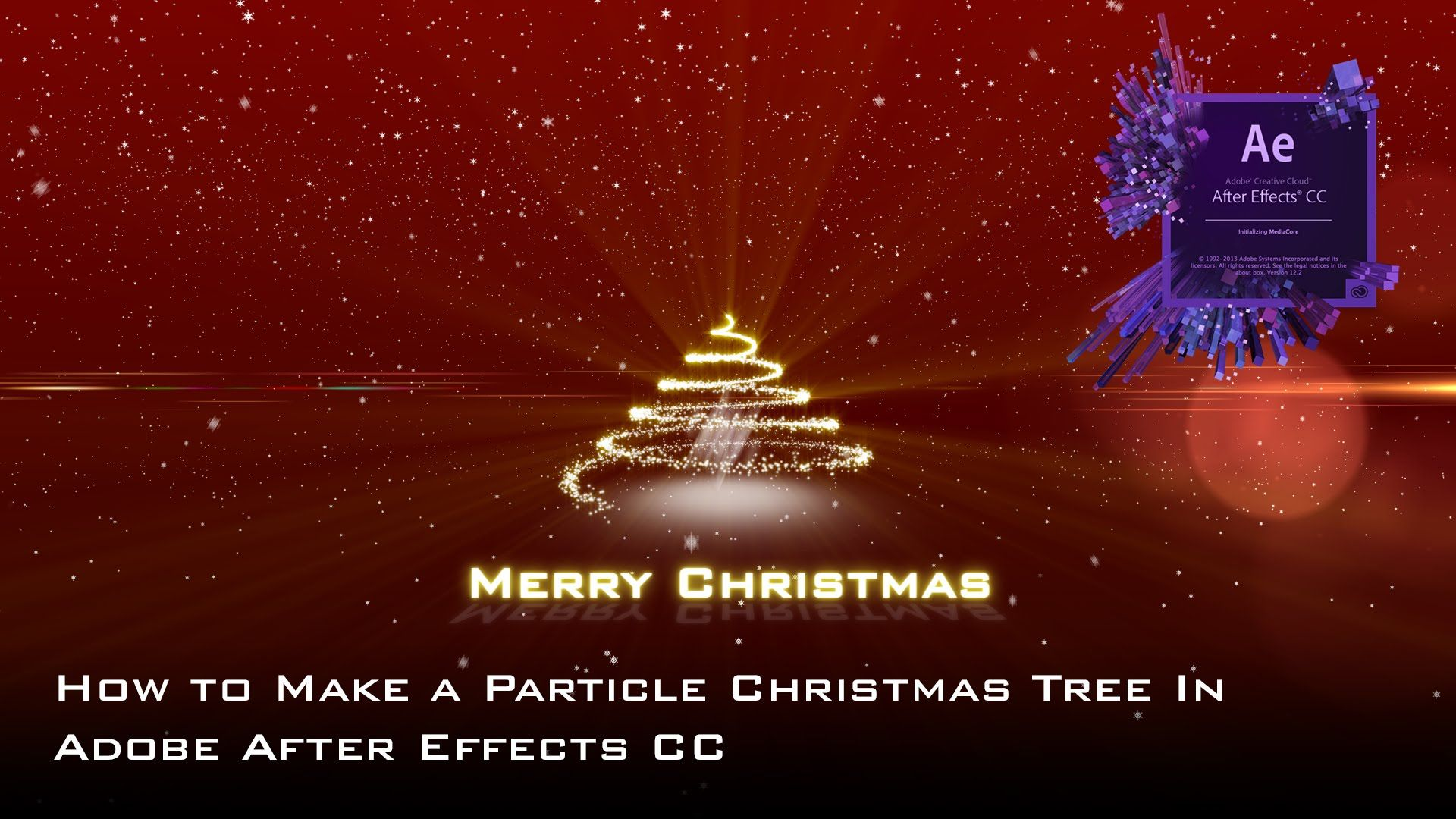 How To Make A Glowing Particle Christmas Tree With Snow In Adobe After Effects Christmas Tree With Snow Christmas Tree How To Make