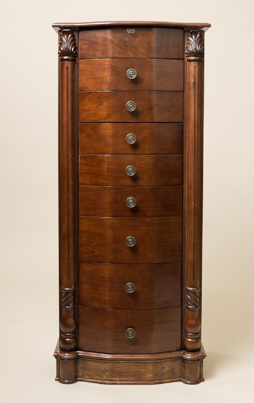 "Hives and Honey ""ANTOINETTE"" Jewelry Armoire, Antique Walnut"