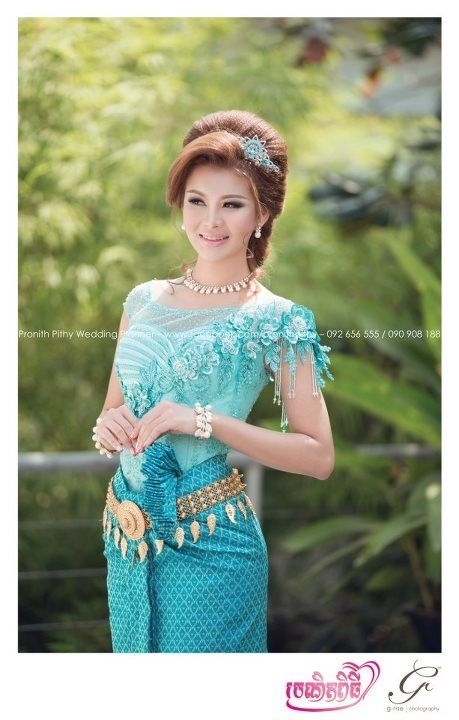 The Colorful Of Khmer Dress Cambodia Brides Pinterest