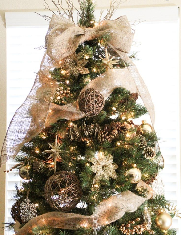 christmas decor with burlap trees pictures reference decorations decorated
