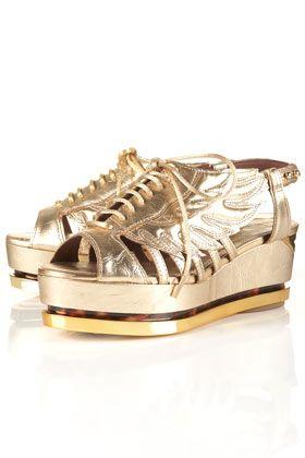 Gold Flatforms Unique | Topshop shoes, Metallic gold shoes