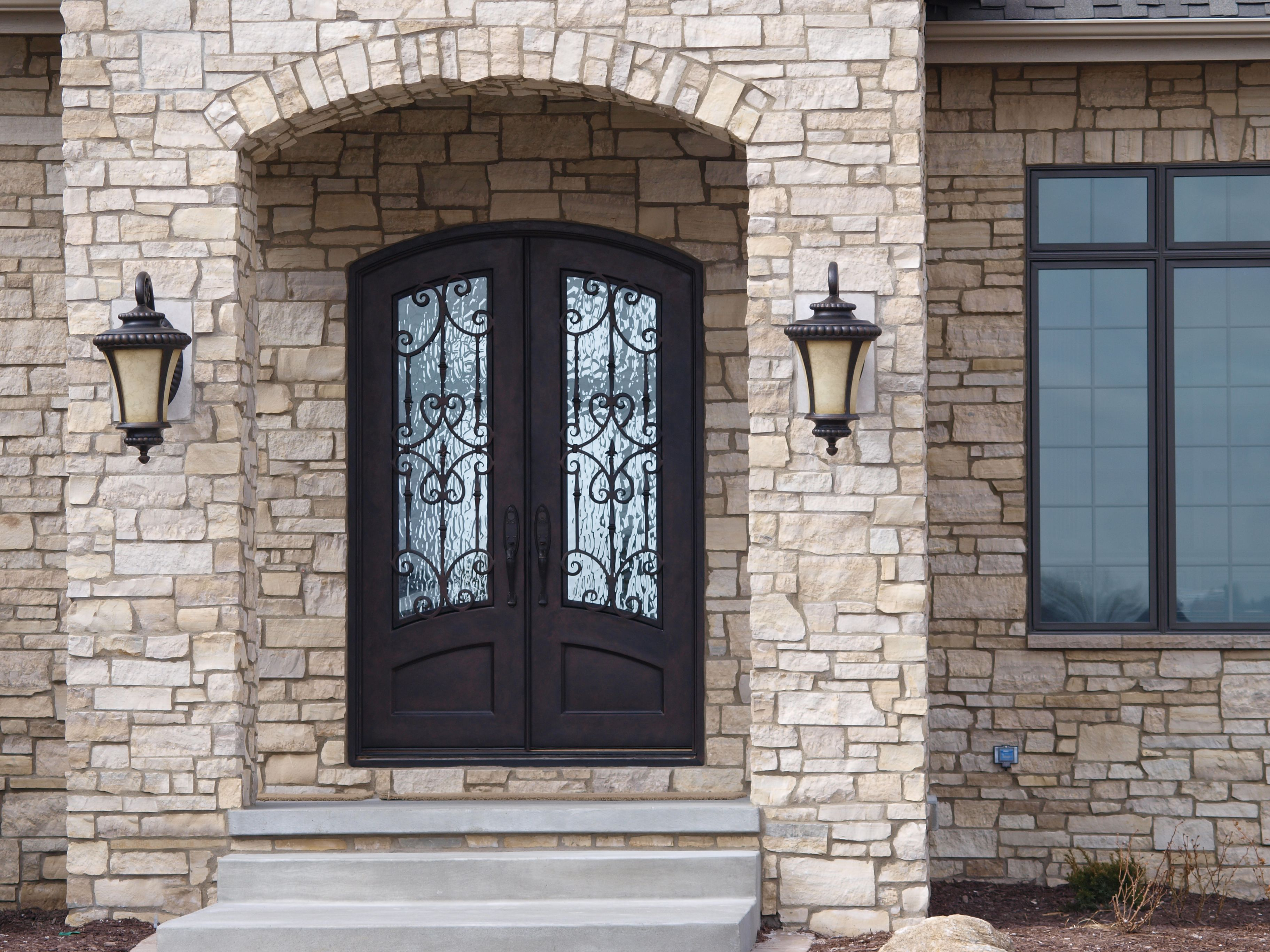 Beautiful Arched Double Entry Doors