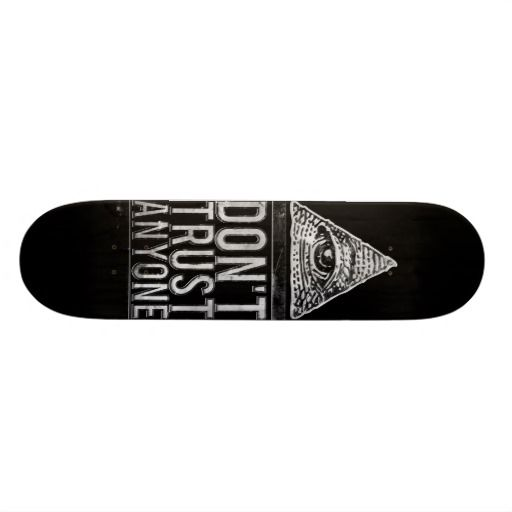 Don T Trust Anyone Skateboard Deck Zazzle Com Skateboards