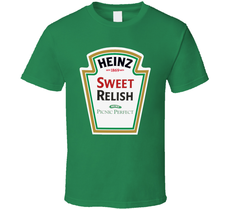 d8a3c8d1 Heinz Sweet Relish Ketchup Funny Bottle Logo Halloween T Shirt ...