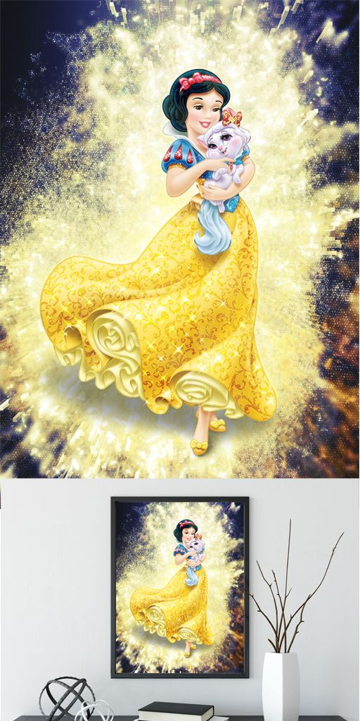 Snow white art, princess wall decor, disney princess art, snow white ...