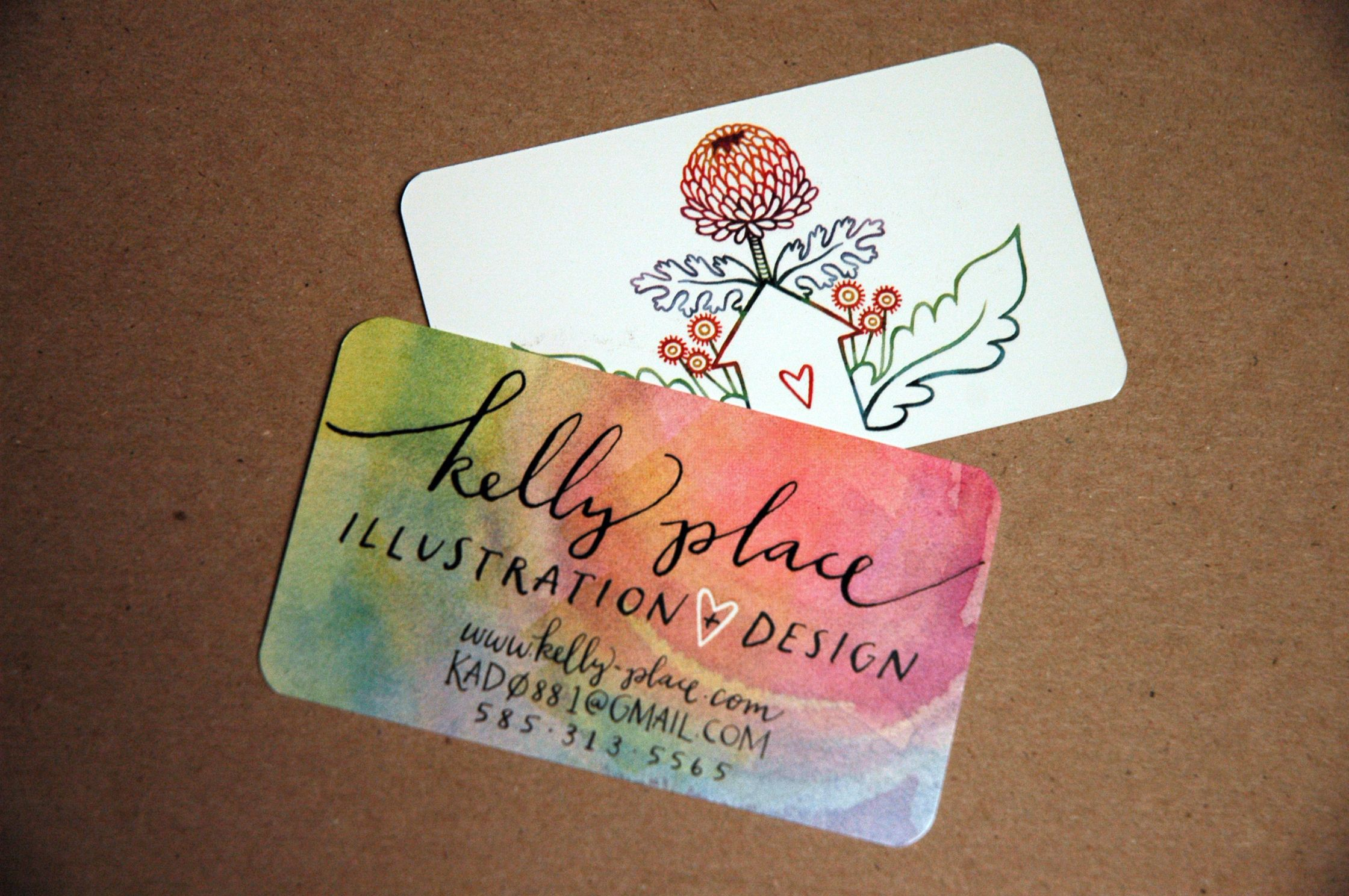 Watercolor Business Cards Google Search Logos Pinterest