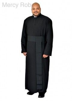 6e3b35a451 ANGLICAN CASSOCK ROBE WITH BAND CINCTURE (BLACK)