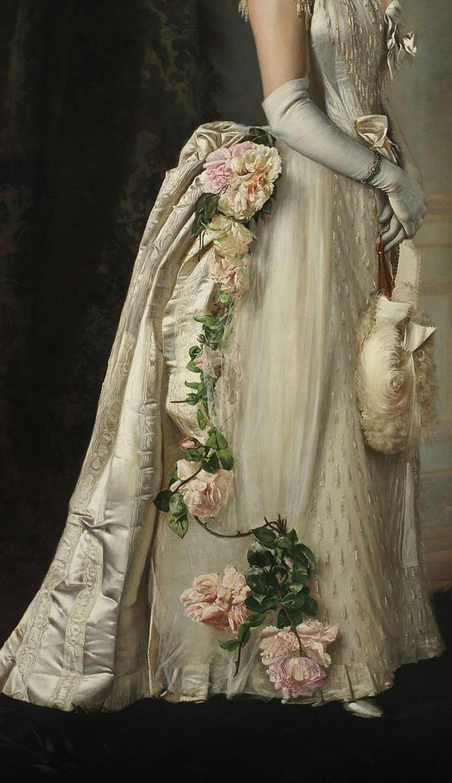 Francois Brunery, Portrait of an Elegant Lady detail