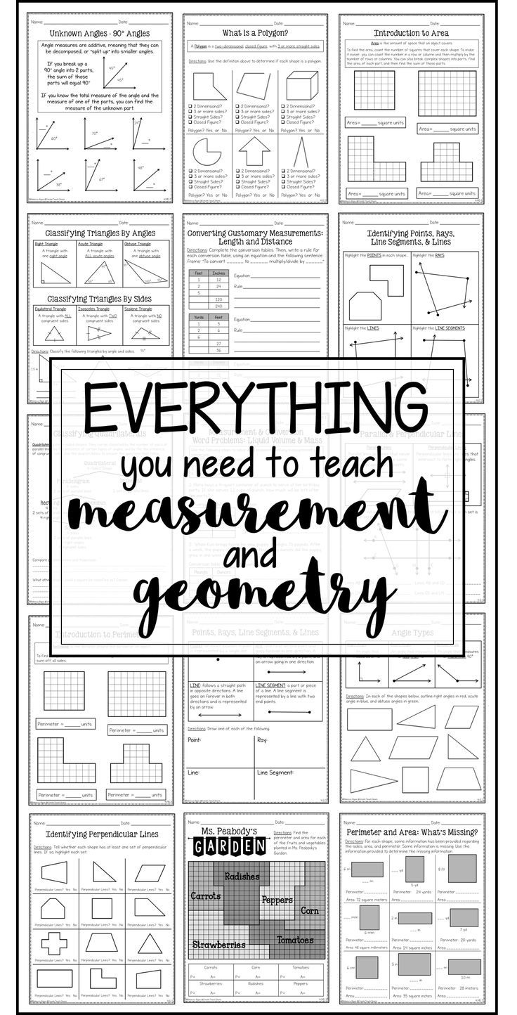 Measurement & Geometry Printables Teaching geometry