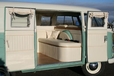 The camper shak hand crafted vw camper interiors for Vw kombi interior designs