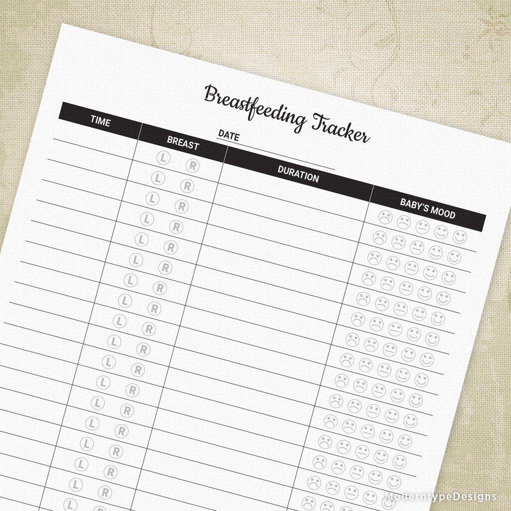 Breastfeeding Tracker Printable Breastfeeding, Lettering