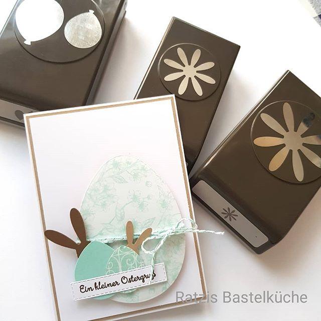 """Cindy aus Ratzis Bastelküche on Instagram: """"Ein kleiner Ostergruß... #easter #ostern #osterkarte #stampinup #handstanze #diy #papercraft"""""""