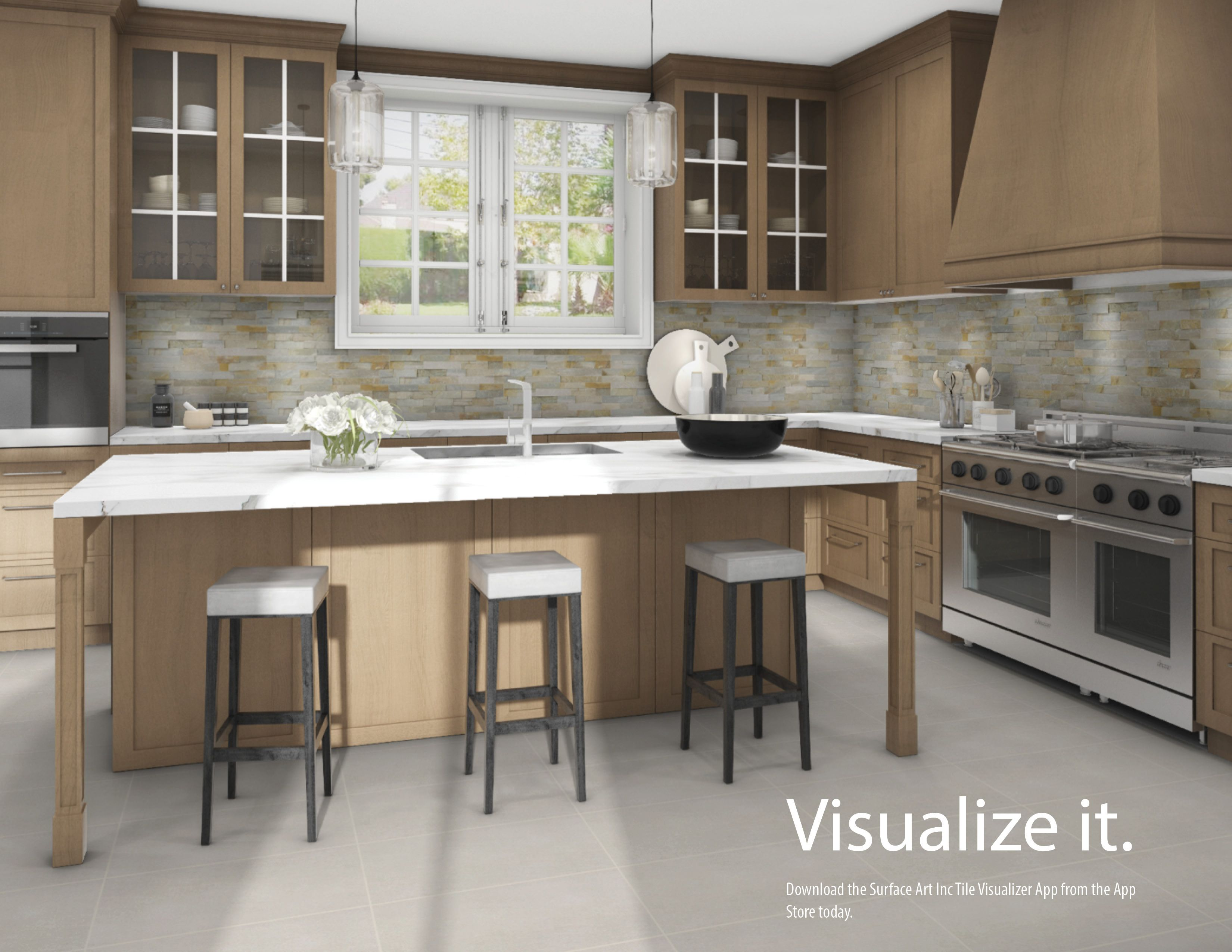 Curious To See How Our Gorgeous Ledger Stone In Beachwalk Quartz Would Look As A Backsplash Our Tile Visualiz Interior Design Styles Surface Art Dream Kitchen