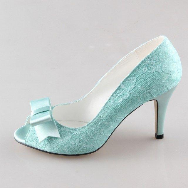 9b6bb8e6bbd 30 Beautiful Light Green Wedding Shoes Ideas