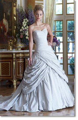 Strip Wedding Dress