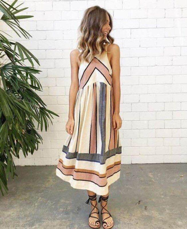 800332eaaa Eliana - Casual Striped Dress – Milk & Choco. 2018 Hot Sale Brand New Women  Summer ...