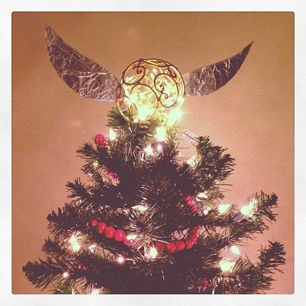 Harry Potter Christmas Tree Topper: Golden Snitch Treetopper In 2019