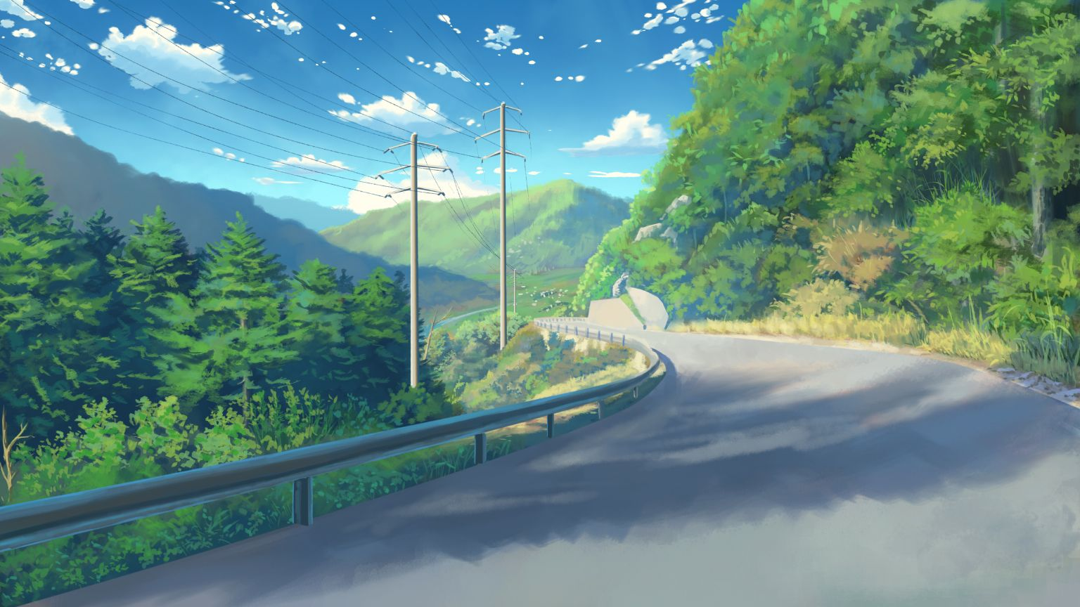Pixiv Id 952566 Wallpaper 2174202 Zerochan Cenario Anime Wallpaper Paisagem Fotos De Paisagem
