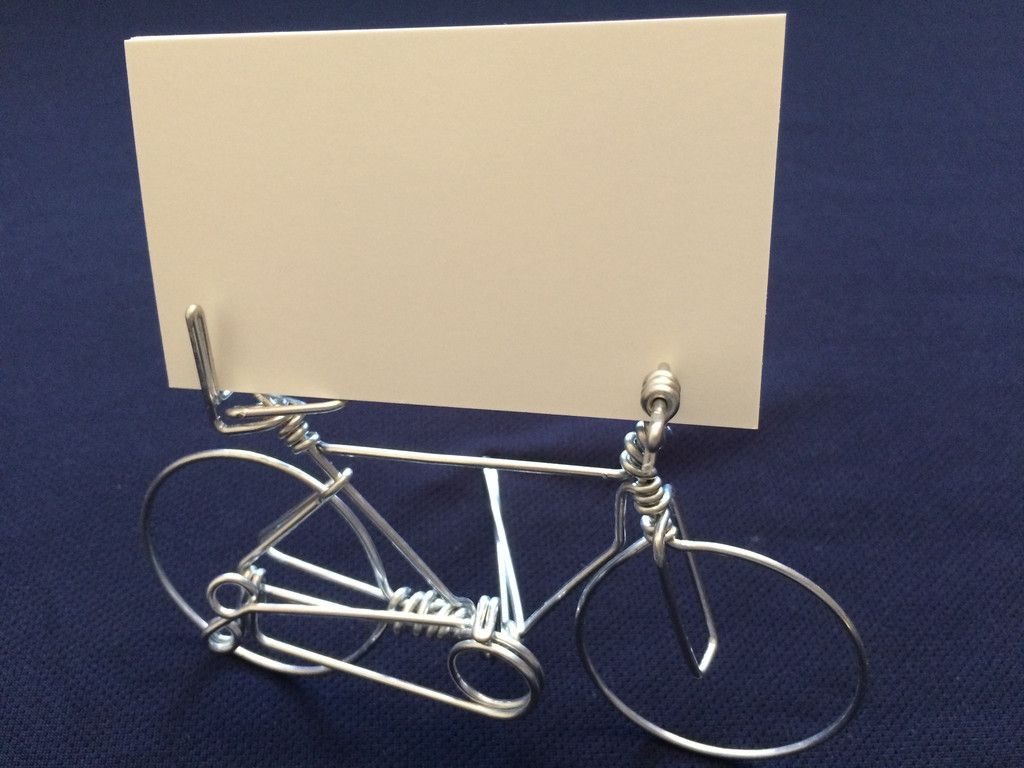 Handmade Creative Bicycle Business Card Holder on Desk | Bicycling ...