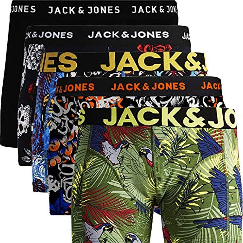 Jack Jones Herren 5er Pack Boxershorts Mix Unterwasche Mehrpack Bekleidung Herren Unterwasche Boxershorts Bekleidu In 2020 Boxer Unterwasche