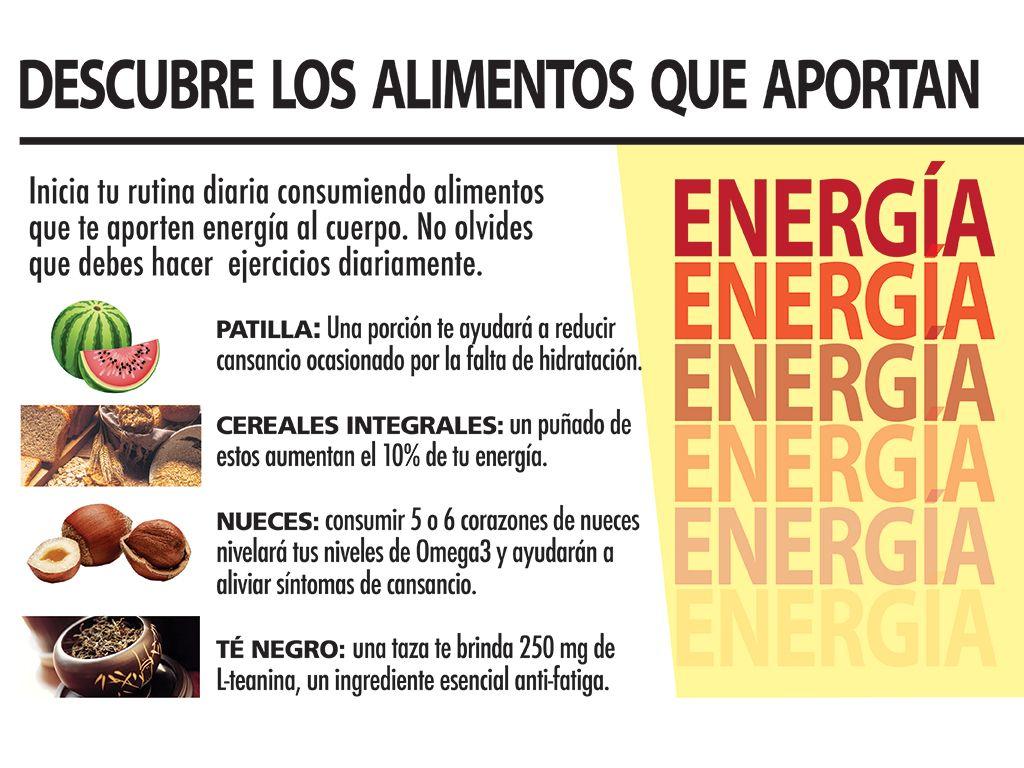 Descubre los alimentos que te aportan más energía