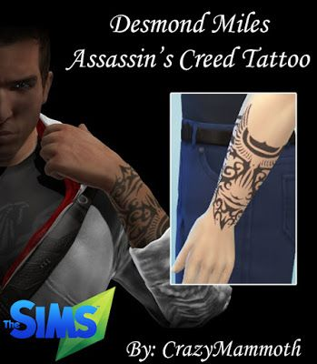 My Sims 4 Blog Desmond Miles Assassin S Creed Tattoo By Crazymamm