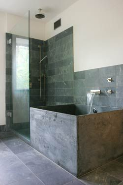 Soapstone Bathroom With Deep Soaking Tub I Want That