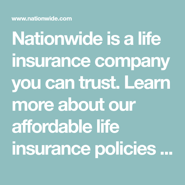 Life Insurance - Get an Affordable Quote - Nationwide in ...