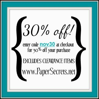 Paper Secrets: November Coupon