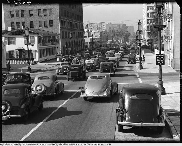 Wilshire Boulevard Los Angeles Ca 1937 Los Angeles Cities