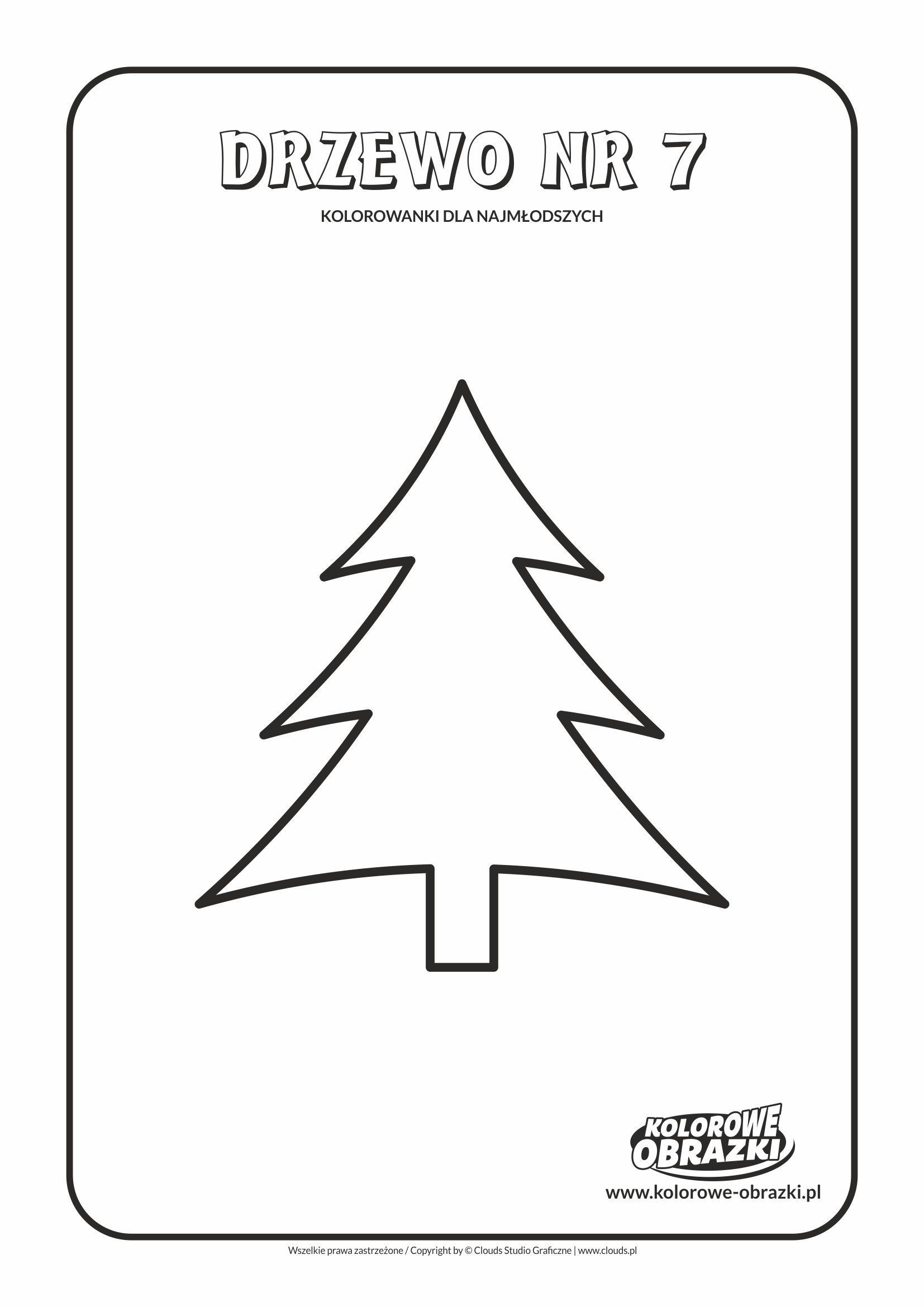 Proste Kolorowanki Dla Najmlodszych Drzewa Drzewo Nr 7 Kolorowanka Z Drzewem Gaming Logos Logos Atari Logo