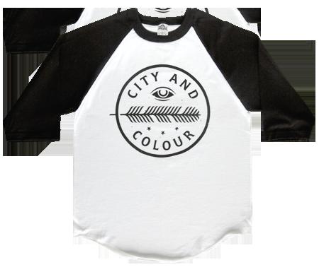 City and Colour Men's Feather Eye Raglan Shirt | City