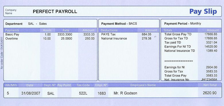 Do You Need Weekly Or Monthly Payslips Order Online From
