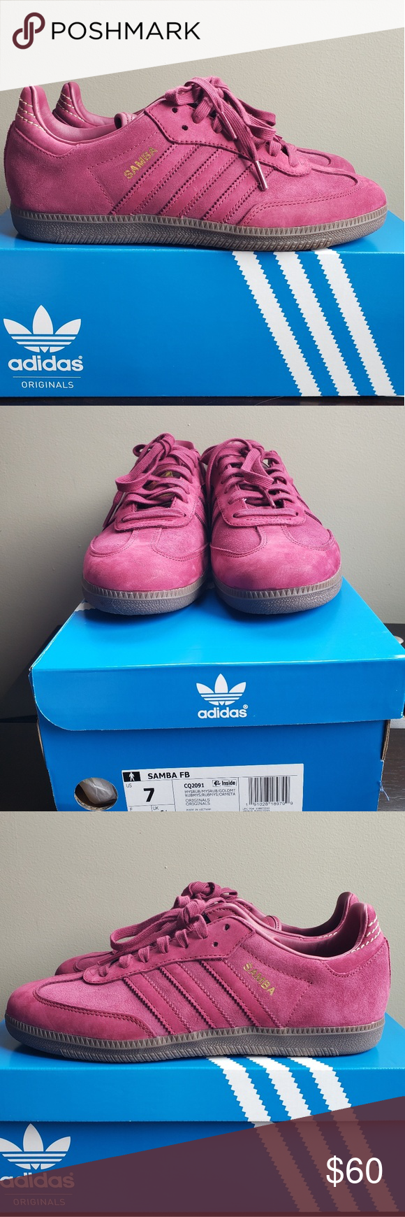 Adidas Samba FB Ruby Never worn with box. Men's size 7