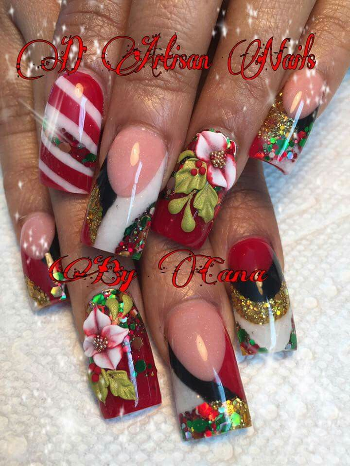 Nail Art For Christmas Idea For Long Nails Short Nails Nail