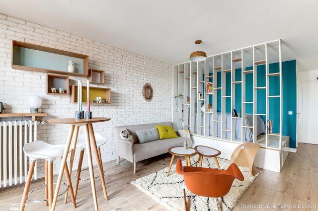 Deco: studio 25m2 | Guiomarix | apartment ideas | Pinterest | Room ...