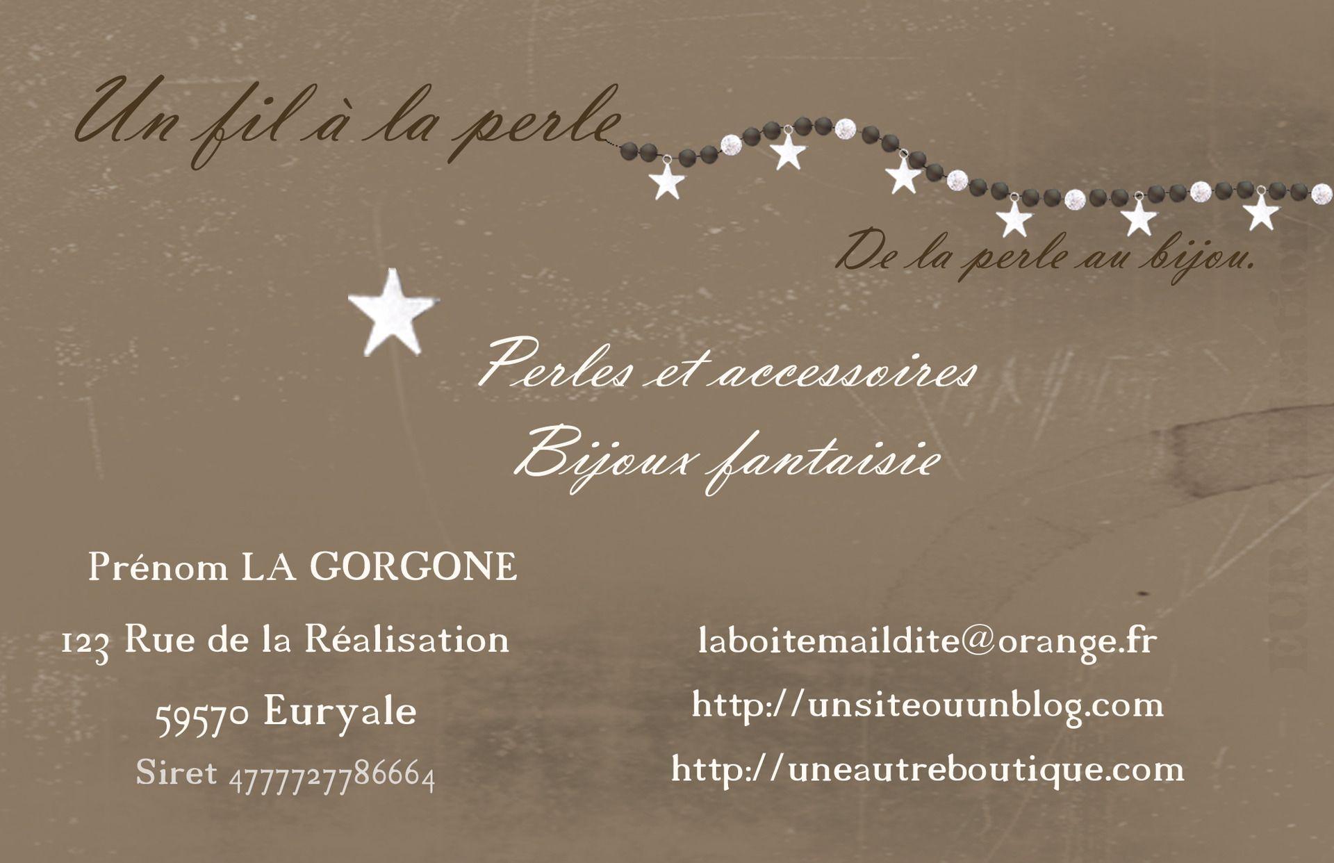 Conception De Cartes Visite Personnalises Art Numrique Par La Gorgone