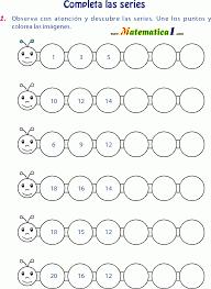 Resultado de imagen para secuencia del 1 al 20 hojas de trabajo ...