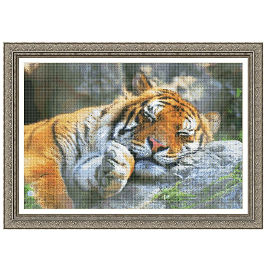 Tiger Dreams Counted Cross Stitch Kit - Cross Stitch, Needlepoint, Embroidery Kits – Tools and Supplies