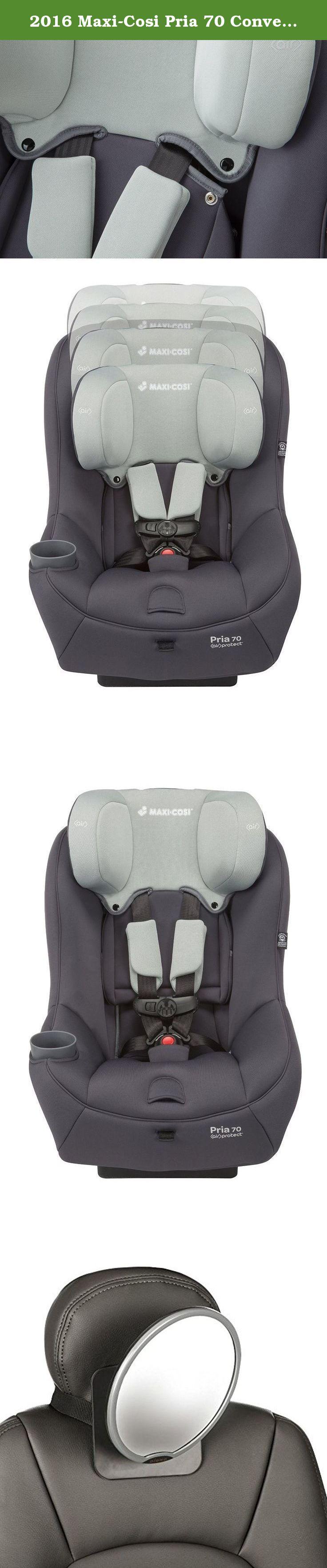 2016 Maxi Cosi Pria 70 Convertible Car Seat Mineral Grey With Back Mirror