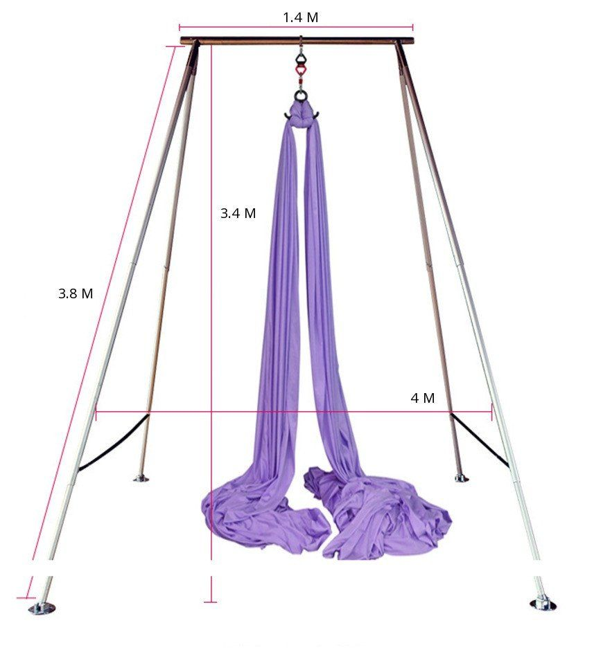 aerial yoga swing stand for aerial yoga hammocks swings and trapeze  indoors and aerial yoga x pole a frame swing stand   yoga hammock aerial yoga      rh   pinterest
