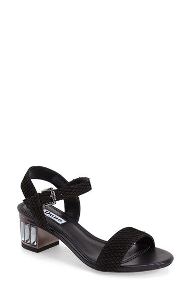 63a10e0a799a Dune London 'Maddie' Crystal Block Heel Sandal (Women) available at  #Nordstrom
