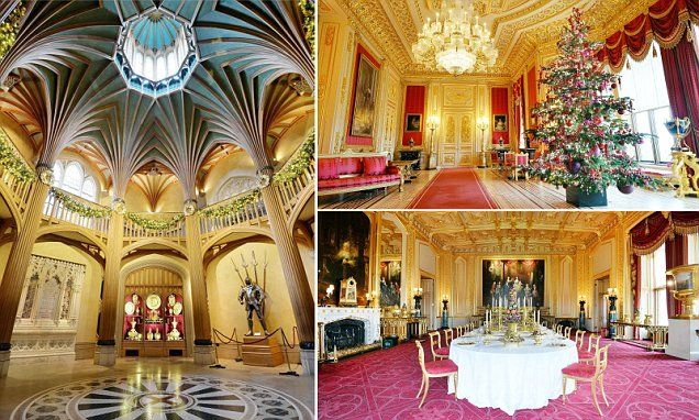 State Apartments At Windsor Castle Are Transformed For Christmas