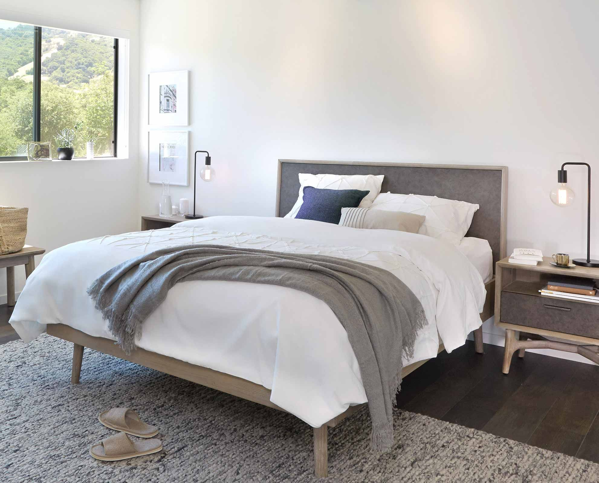 Owen Bed By Scandinavian Designs The Owen Bed Is Notably Handsome By Nature With A Two Tone Neutral Color Living Room Furniture Sofas Furniture Bedroom Design