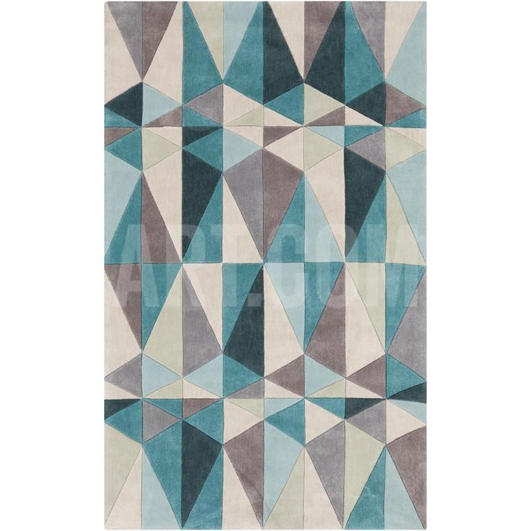 Cosmopolitan Geometra Area Rug - Teal/Sea Foam 5' x 8' Home Accessories at Art.com