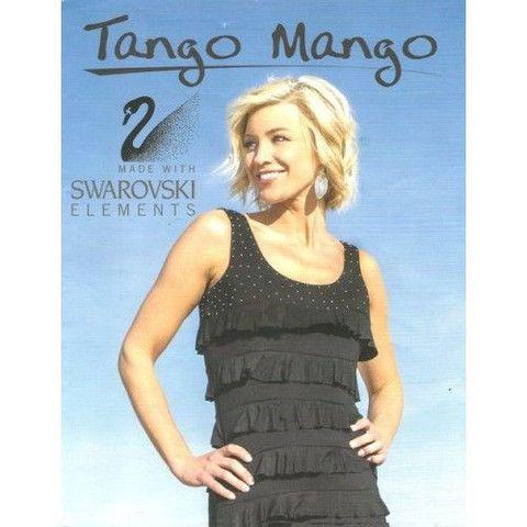Swarovski crystals embellished Tango Mango ruffle dress D760SW – Silhouette Fashion Boutique