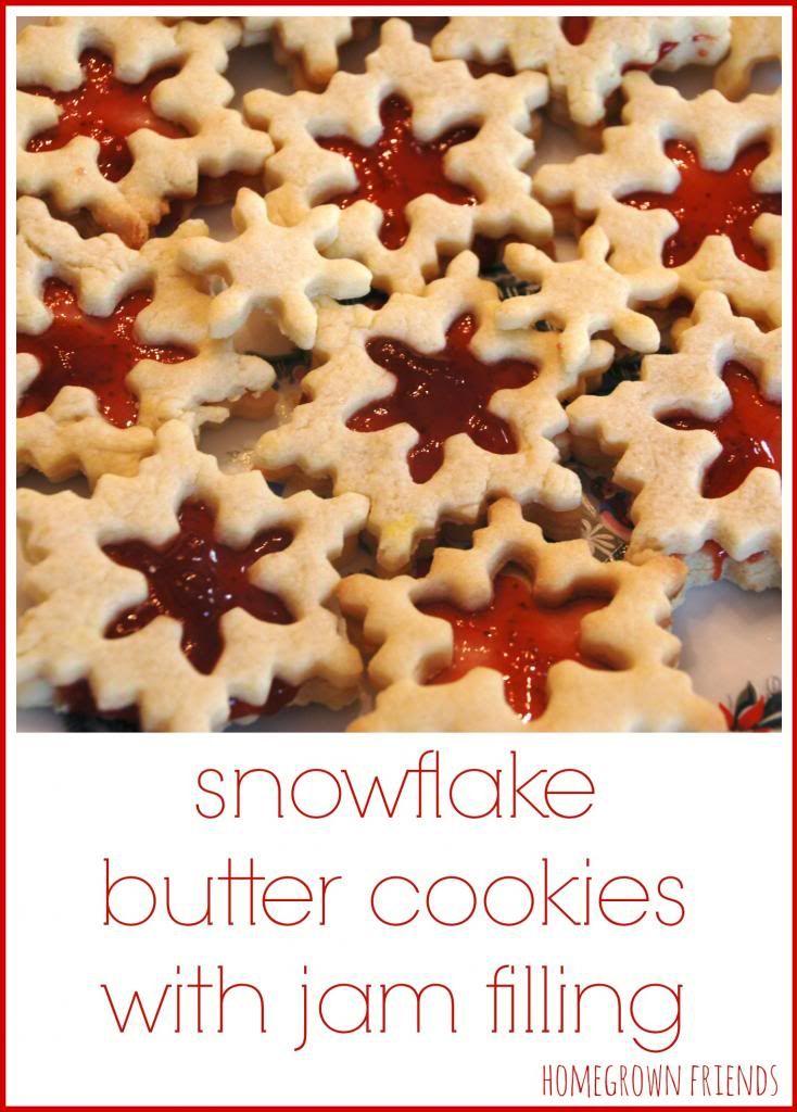 Snowflake Butter Cookies With Jam Filling Cookies Jam Cookies