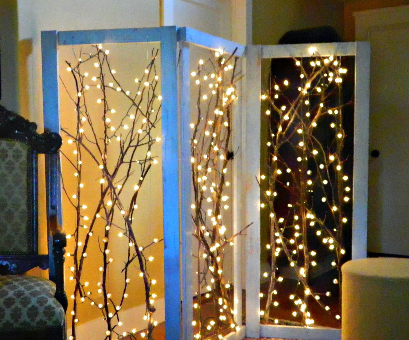 Twinkling branches room divider divider room and diy furniture