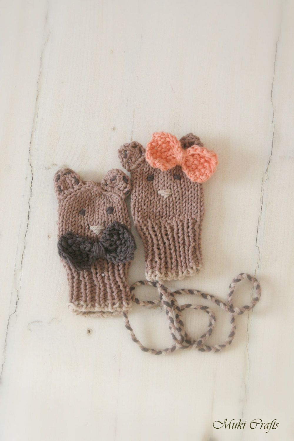 Knitting Pattern Thumbless Baby Bear Or Mouse Mitts Fabian Newborn