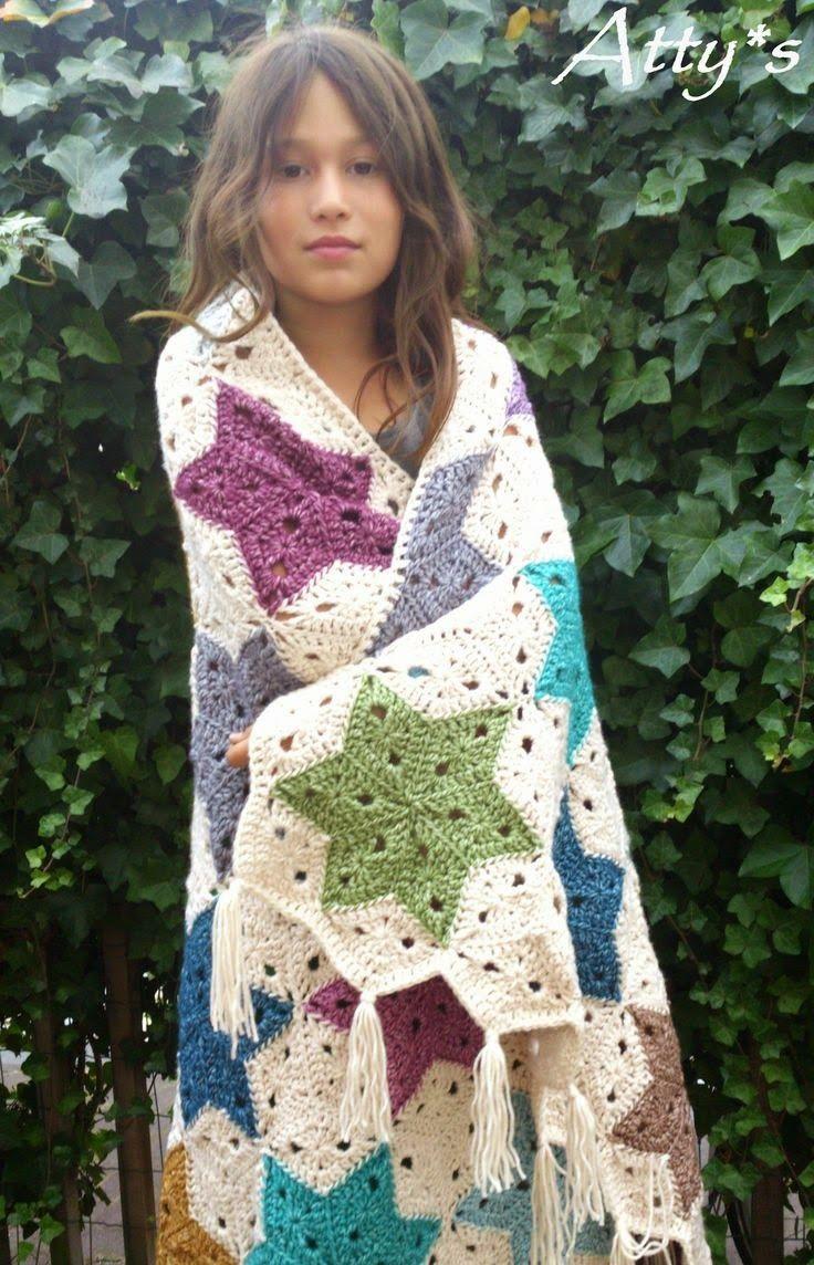 Inspiring snaps: Crochet Stars. | Blankets | Pinterest | Crochet ...